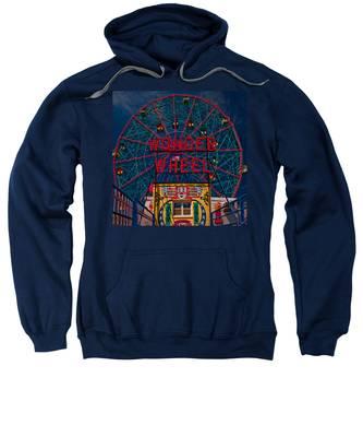 The Wonder Wheel At Luna Park Sweatshirt