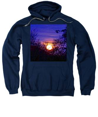 Sweatshirt featuring the photograph Full Moonrise In Gemini by Judy Kennedy