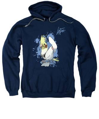 Two Birds Hooded Sweatshirts T-Shirts