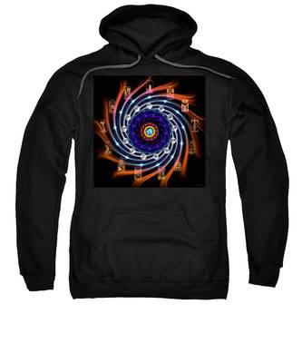Sweatshirt featuring the digital art Celtic Tarot Moon Cycle Zodiac by Derek Gedney