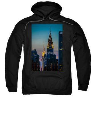 Chrysler Building At Sunset Sweatshirt