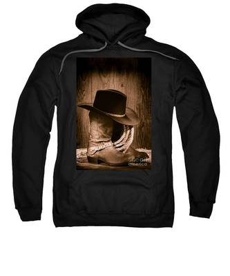 Cowboy Hat And Boots Sweatshirt