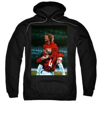 David Beckham Soccer Hooded Sweatshirts T-Shirts