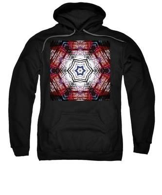 Sweatshirt featuring the digital art Dawning Sun Flare by Derek Gedney