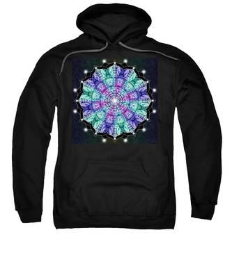 Sweatshirt featuring the digital art Earthscape Winter by Derek Gedney