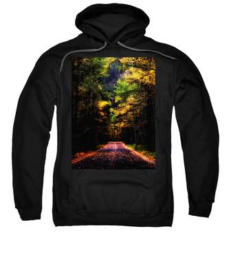 Sweatshirt featuring the photograph Glacier Fall Road by Susan Kinney
