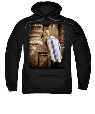Harken Unto My Prayer O Lord Western Wall Jerusalem Sweatshirt