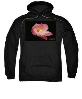 Indian Lotus On Black --- Sacred Light Sweatshirt