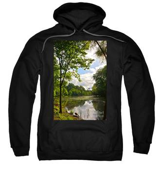 July Fourth Duck Pond With Goose Sweatshirt