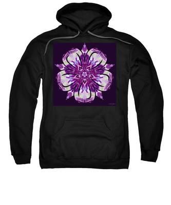 Sweatshirt featuring the digital art Nature's Mandala 22 by Derek Gedney
