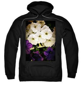 Sweatshirt featuring the photograph Petunias by Susan Kinney