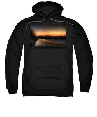 Riverscape At Sunset Sweatshirt
