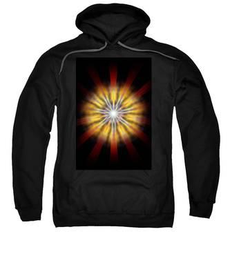 Sweatshirt featuring the drawing Seven Sistars Of Light by Derek Gedney