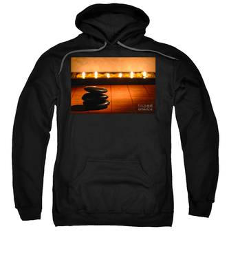 Stone Cairn And Candles For Quiet Meditation Sweatshirt