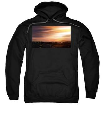 Sweatshirt featuring the digital art Sunset Riders by Susan Kinney