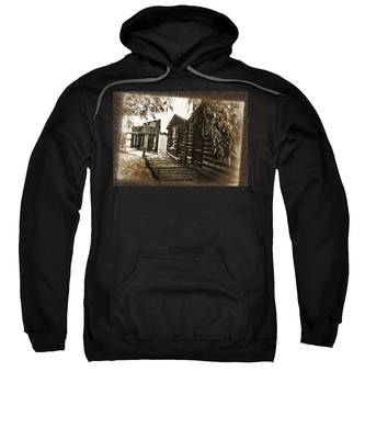 Sweatshirt featuring the photograph Walking Backwards by Susan Kinney