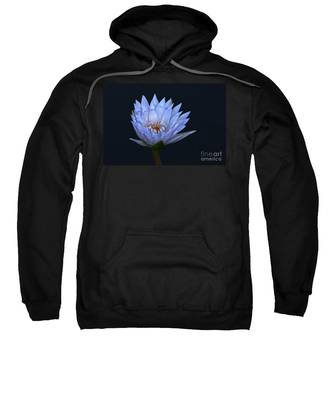 Water Lily Shades Of Blue And Lavender Sweatshirt