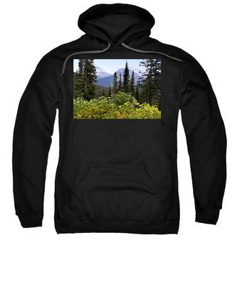 Sweatshirt featuring the photograph Glacier Scenery by Susan Kinney