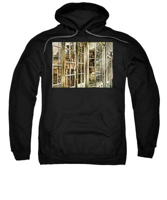 Sweatshirt featuring the photograph Vc Window Reflection by Susan Kinney