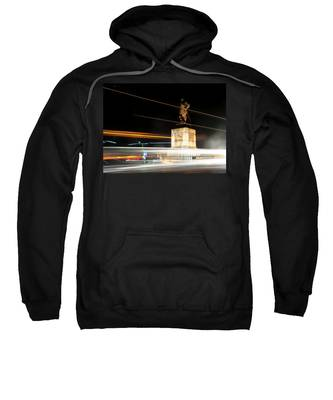 Drake's Statue Traffic Trails Iv Sweatshirt