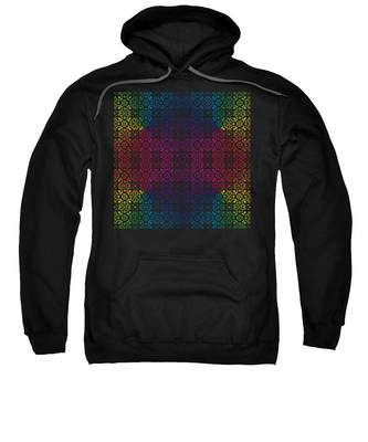 Batik Rainbow 100 - Black Sweatshirt