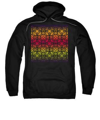 Batik Rustic Rainbow 200 - Black Sweatshirt