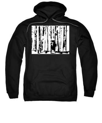 Birch Forest Black Sweatshirt