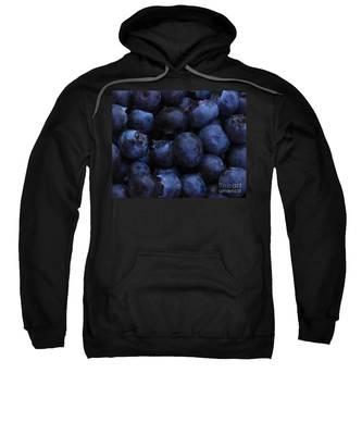 Blueberries Close-up - Horizontal Sweatshirt