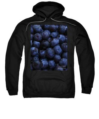 Blueberries Close-up - Vertical Sweatshirt