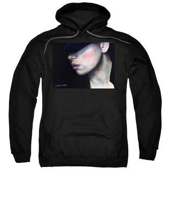 Girl In Black Hat Sweatshirt