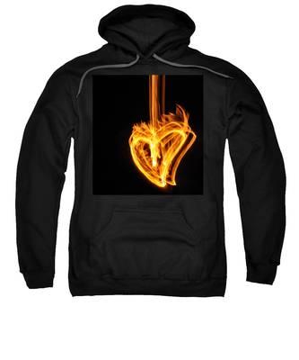 Hearts Aflame -falling In Love Sweatshirt