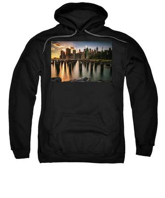 Lower Manhattan Sunset Twinkle Sweatshirt