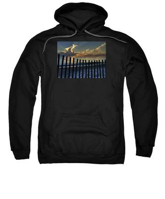 Picket Fence On The Beach Sweatshirt