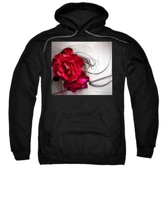 Sweatshirt featuring the painting Red Roses by Susan Kinney