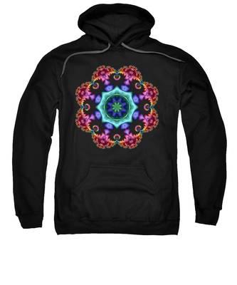 Satin Rainbow Fractal Flower I Sweatshirt