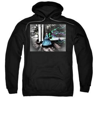Spooky Historic Butterfly Dahlonega  Sweatshirt