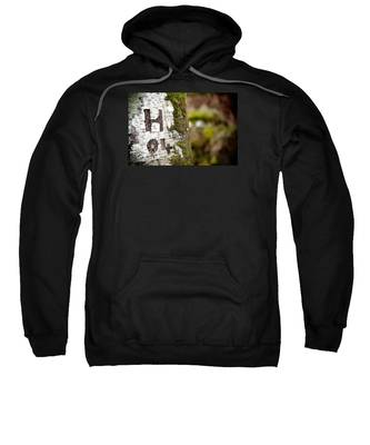 Tree Bark Graffiti - H 04 Sweatshirt