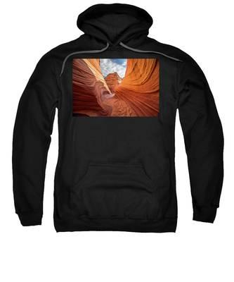 Winding Stripes Of Sandstone Sweatshirt