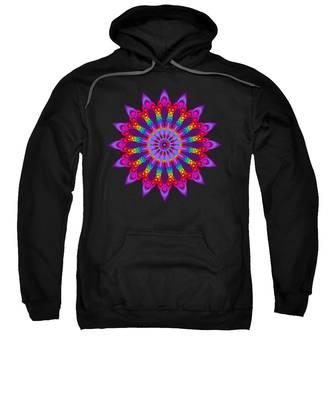Woven Rainbow Fractal Flower Sweatshirt