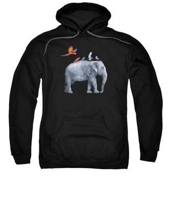 Realistic Hooded Sweatshirts T-Shirts
