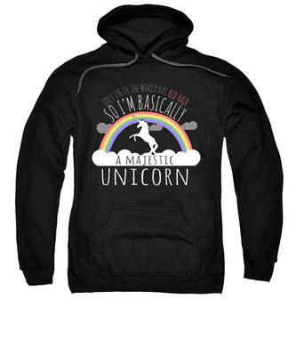 Red Hair Majestic Unicorn Funny Redhead Sweatshirt