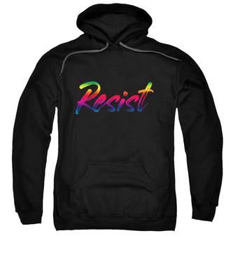 Resist - Rainbow On Black Sweatshirt