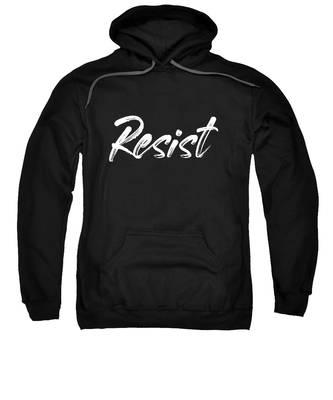 Resist - White On Black Sweatshirt