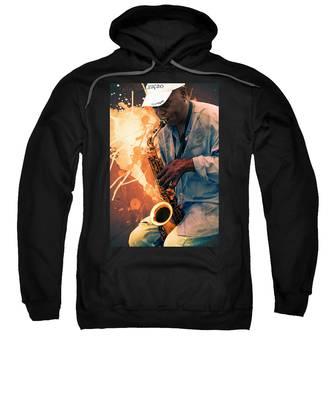Street Sax Player Sweatshirt