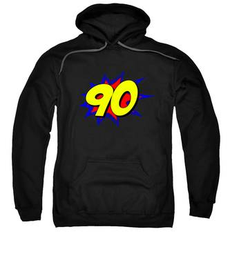 Superhero 90 Years Old Birthday Sweatshirt