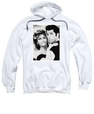 Olivia Newton John And John Travolta In Grease Collage Sweatshirt