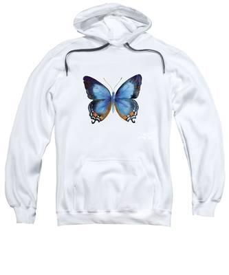 80 Imperial Blue Butterfly Sweatshirt