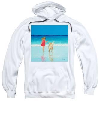 Beach Painting 'sunkissed Hair'  Sweatshirt
