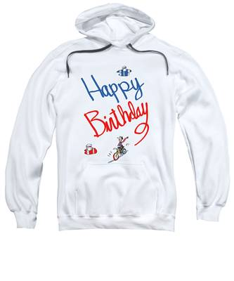Sweatshirt featuring the digital art Birthday Bicycle Painter by Mark Armstrong