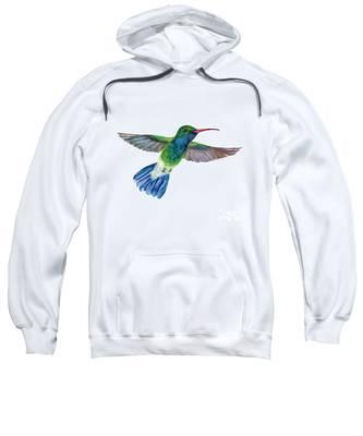 Broadbilled Fan Tail Hummingbird Sweatshirt